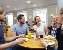 Mittagessen im Café Milagro