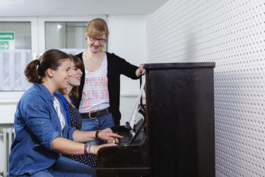 Proben im Musikraum